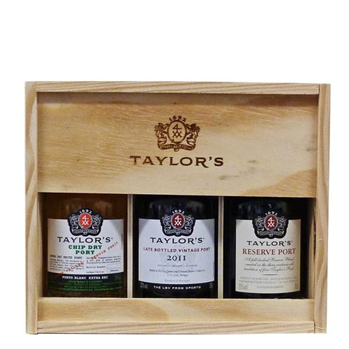 Taylors 3 x 20cl Port Mini Decanter Gift Pack (Chip Dry, Reserve, LBV)
