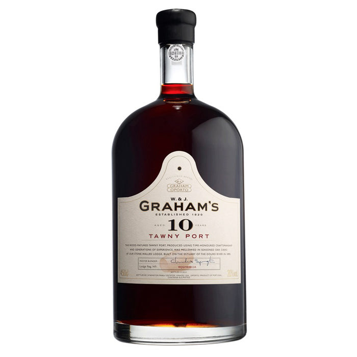 W & J Graham's 10 Year Old Tawny Port 450cl in Branded wooden box