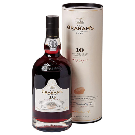 Grahams 10 Year Old Tawny Port 75cl in Branded Gift Tube 20% ABV
