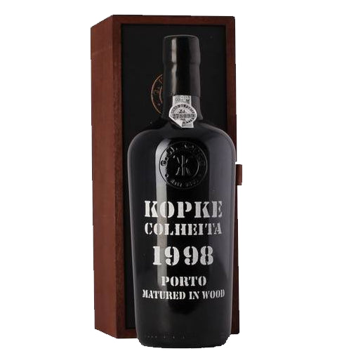 Kopke Colheita 1998 Vintage Port 75cl in Wooden Gift Box 20% ABV
