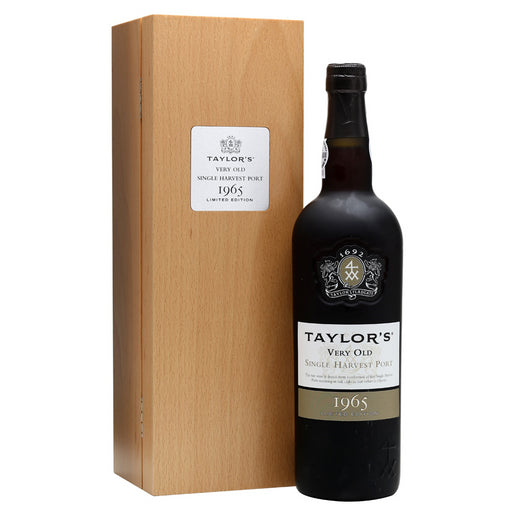 Taylors Very Old Single Harvest Vintage 1965 Port 75cl in Wooden Gift Box