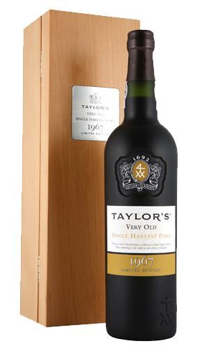 Taylors Very Old Single Harvest Vintage 1967 Port 75cl in Wooden Gift Box