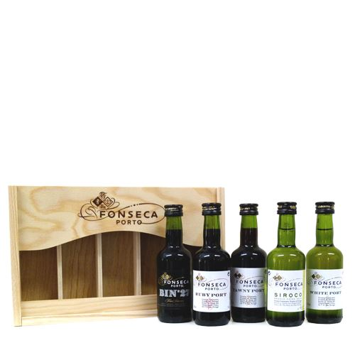 Fonseca 5 x 5cl Port Miniatures Gift Set  (Tawny, Ruby, White, Bin 27, Siroco)