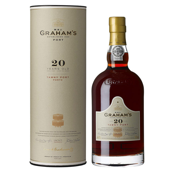 Grahams 20 Year Old Tawny Port In Branded Gift Tube 75cl