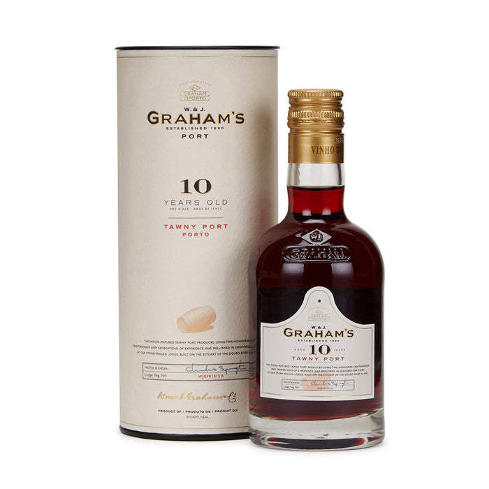 W & J Grahams 10 Year Old Tawny Port 20cl in Branded Gift Tube