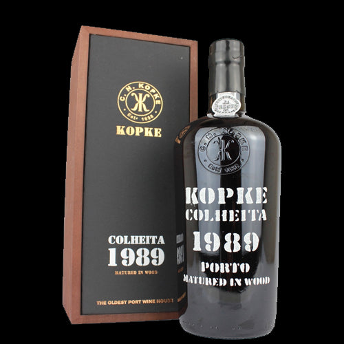 Kopke Colheita 1989 Vintage Port 75cl 20 % ABV in Wooden Gift Box