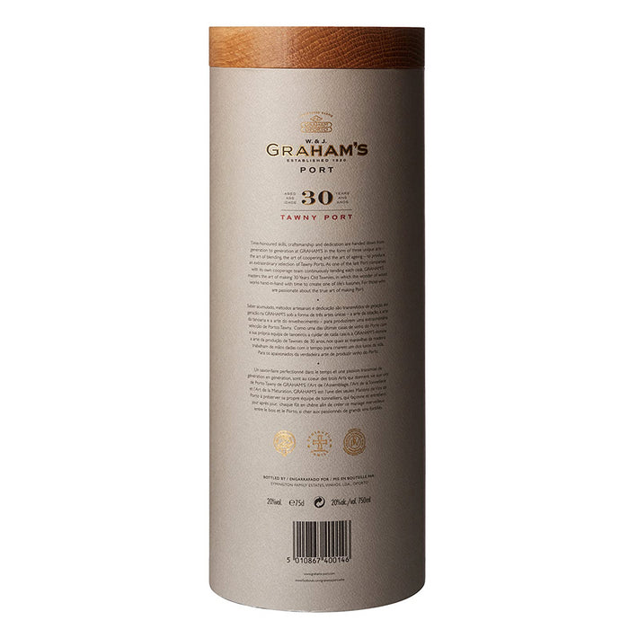 W & J Graham's 30 Year Old Tawny Port 75cl in Luxury Leather Gift Tube