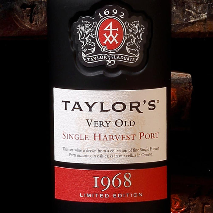 Taylors Very Old Single Harvest Vintage 1968 Port 75cl in Wooden Gift Box