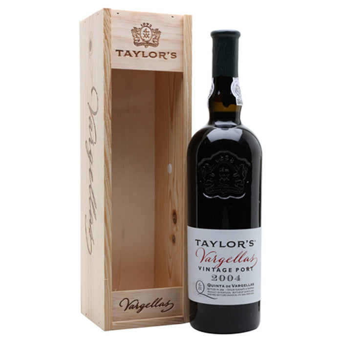 Taylors Quinta de Vargellas Vintage Port 2004 in Wooden Gift Box 75cl 20% ABV