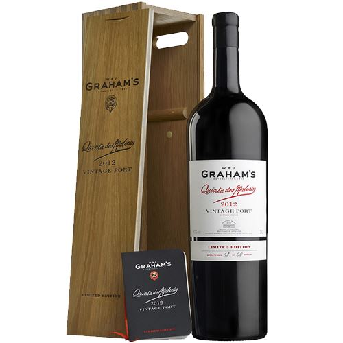 W & J Graham's Quinta dos Malvedos 2012 in Wooden Gift Box 300cl