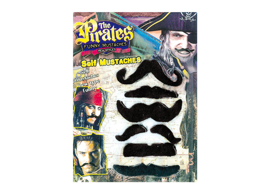 6 moustaches pirate
