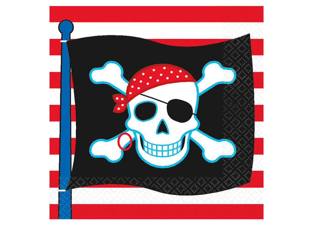 Serviettes d'anniversaire Pirates