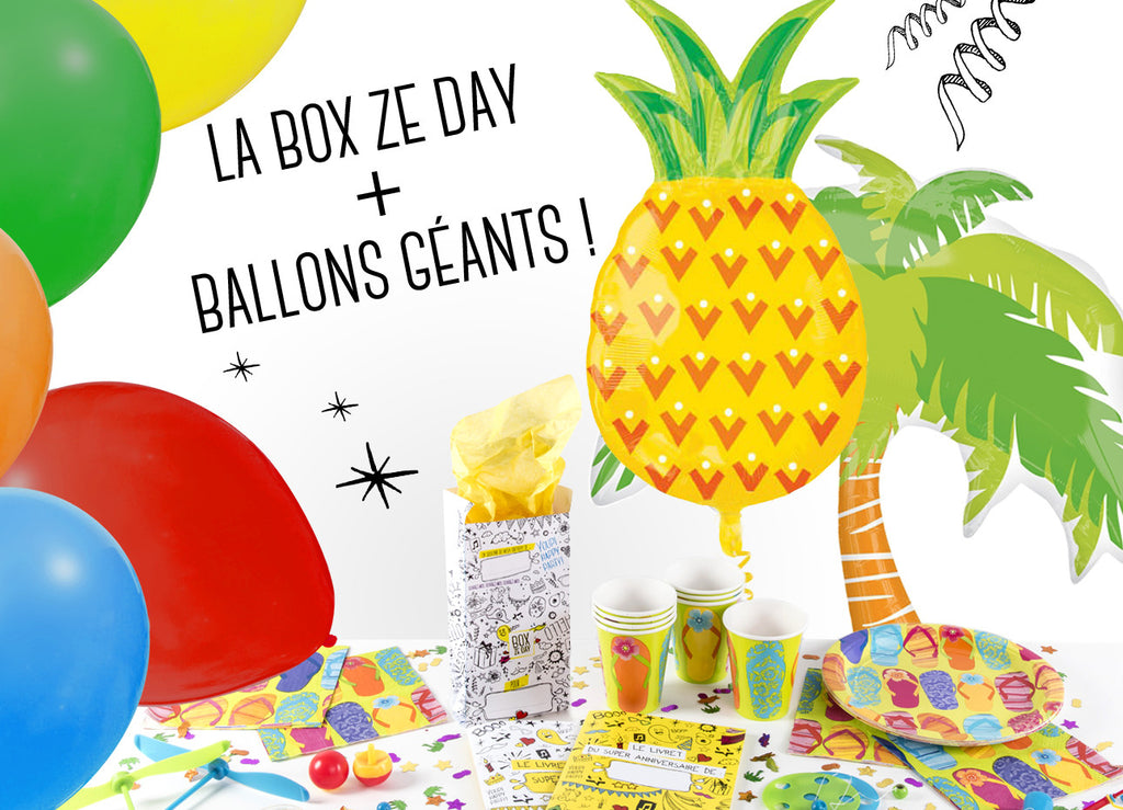 La Mega Box Ze Day Hawaï + Ballons Géants