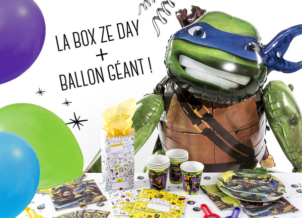 Tortues Nina box + ballon geant