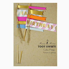 Meri Meri Liberty Toot Sweet Cake Flags - miniflamingo