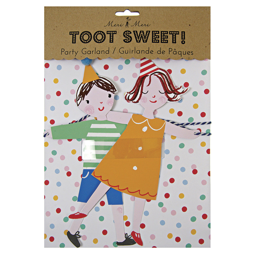 Meri Meri TOOT SWEET Children Girlande - miniflamingo