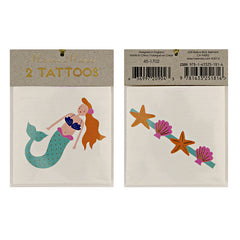 Meri Meri Mermaid & Sea Shells Tattoos - miniflamingo