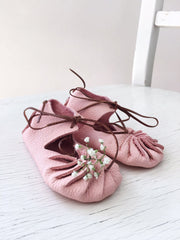 little pearls Babyshoes Rose - miniflamingo