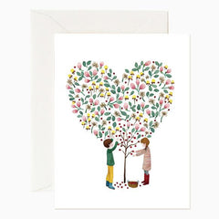 Red Cap Cards Apple Tree Love