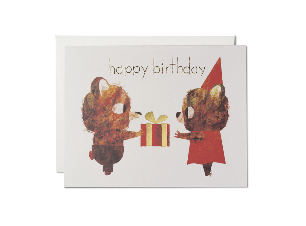 Red Cap Cards Two Bears Birthday