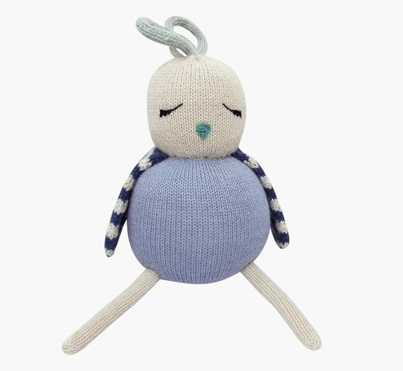 Luckyboysunday Strickpuppe birdie blue - miniflamingo