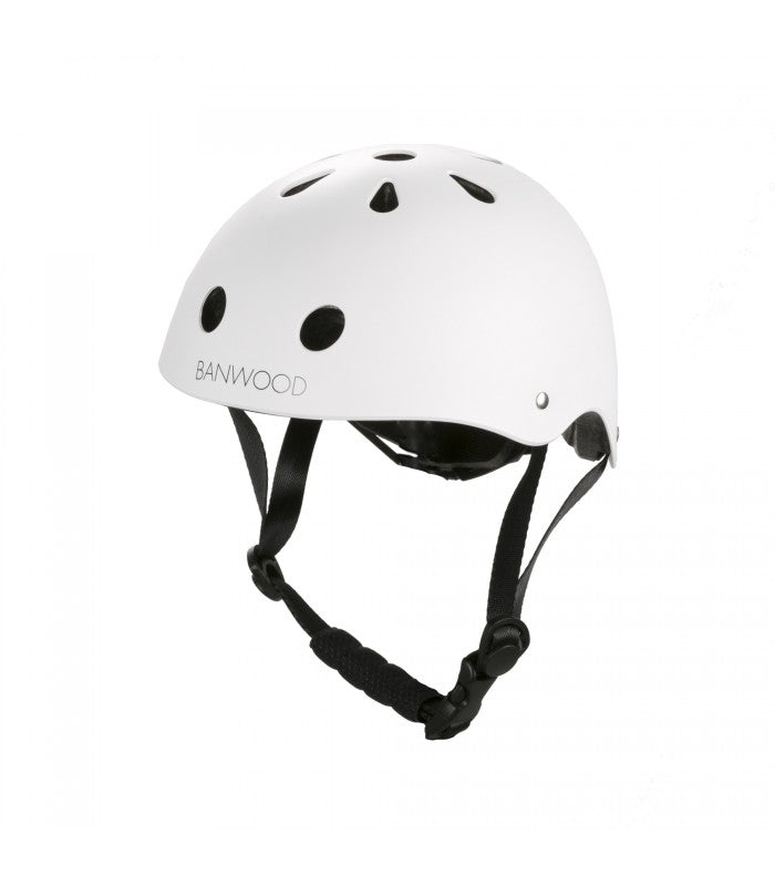 Banwood Helm Boy & Girl white - miniflamingo