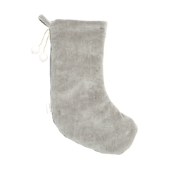 Fabelab Dreamy Christmas Stocking grau mit goldenen Punkten