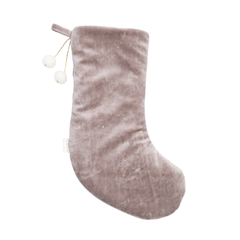 Fabelab Dreamy Christmas Stocking rose mit goldenen Punkten