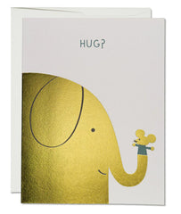 Red Cap Cards Elephant Hugs - miniflamingo