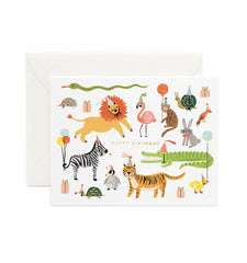 Rifle Paper Co. Postkarte Animal Party