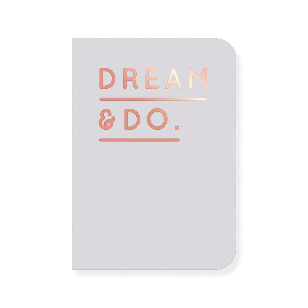 Navucko Notizheft Dream & Do grau/roségold - miniflamingo
