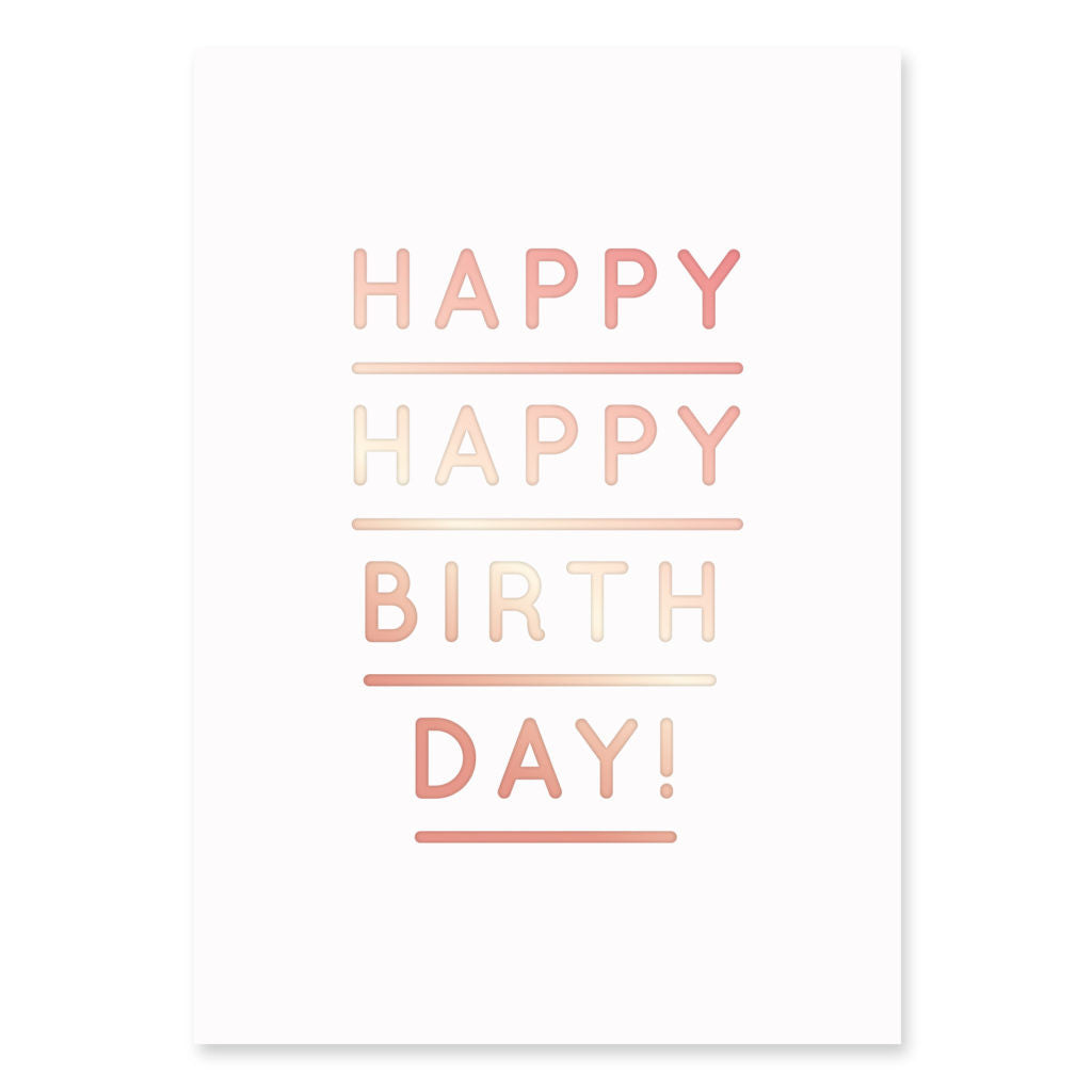 Postkarte Happy Birthday Navucko - miniflamingo Shop