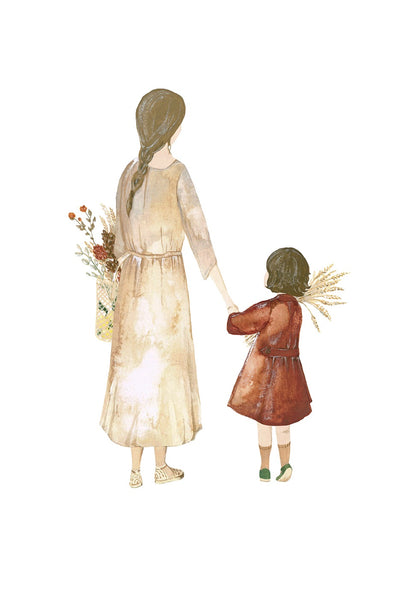 Saar Manche Mother and Daughter Market Day Print Limited Edition - miniflamingo