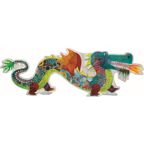 Djeco Riesenpuzzle Leon the Dragon - miniflamingo