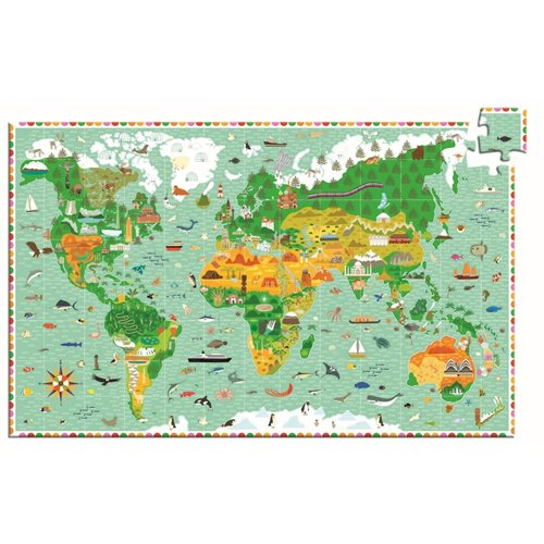 Djeco Entdecker Puzzle Around the world - miniflamingo