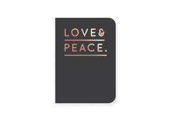 Notizheft Love & Peace von Navucko - miniflamingo Shop
