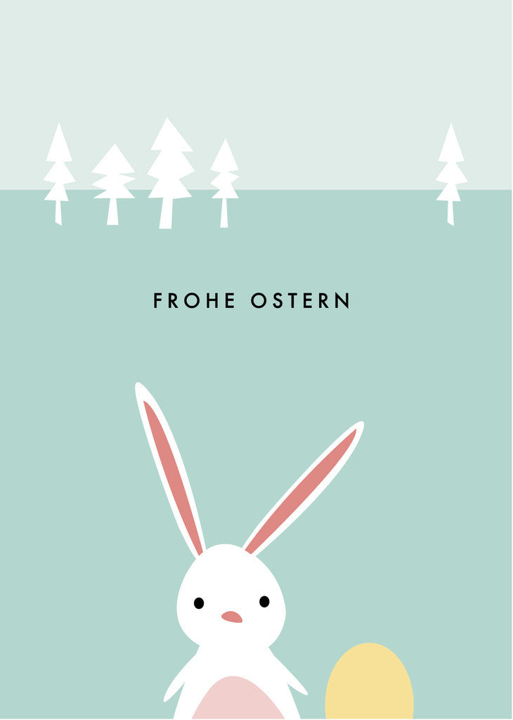 Papier Ahoi Postkarte Frohe Ostern