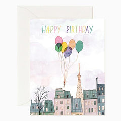 Red Cap Cards Paris Balloons