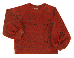 Maed for mini Sweater Red Leopard - miniflamingo
