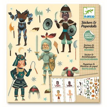 Djeco Stickermappe Ritter - miniflamingo Shop