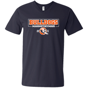 MS Bulldogs - 982 Men's Printed V-Neck T-Shirt