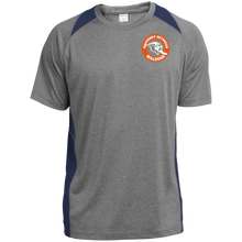Mahomet Bulldog Circle - ST361 Heather Colorblock Poly T-Shirt