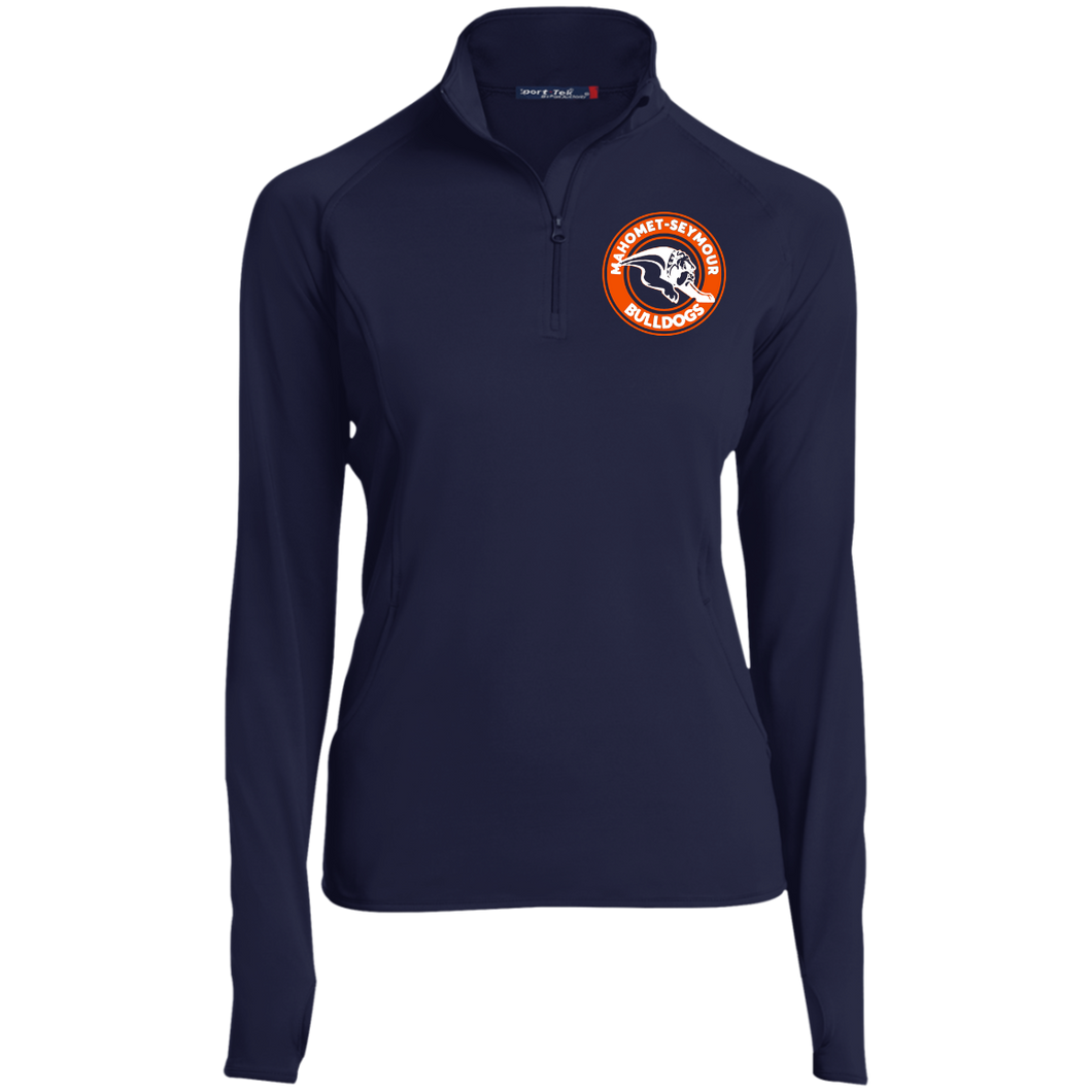 Mahomet Bulldog Circle - LST850 Women's 1/2 Zip Performance Pullover