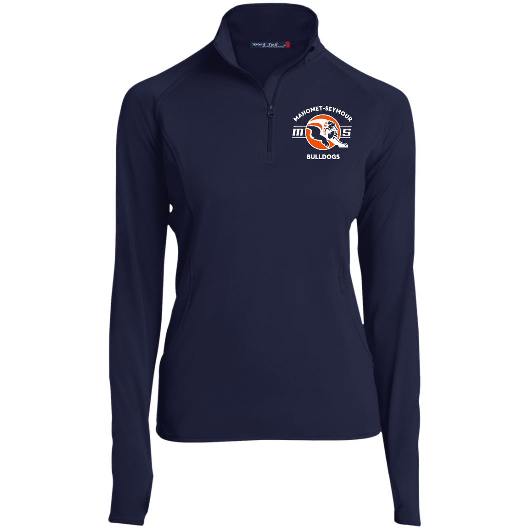Mahomet Bulldog MS - LST850 Women's 1/2 Zip Performance Pullover