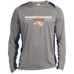 Mahomet Bulldogs - Sport-Tek ST361LS Long Sleeve Heather Colorblock Poly T-Shirt