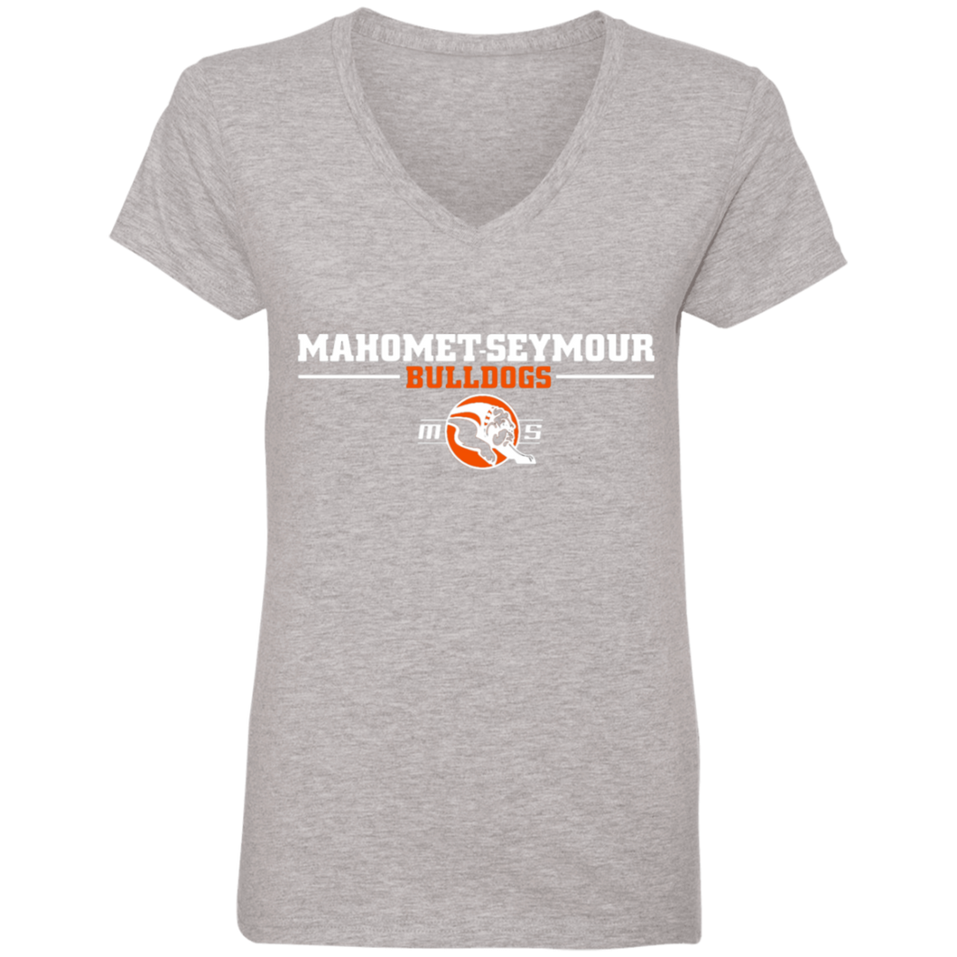 Mahomet Bulldogs - Anvil 88VL Ladies' V-Neck T-Shirt