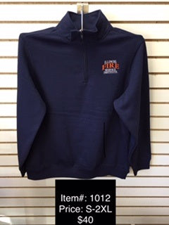 IFSI Embroidered Navy 1/4 Zip Sweatshirt