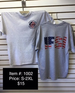IFSI American Flag - Grey T-Shirt