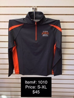 IFSI Two Color - Embroidered 1/4 Zip - Grey/Orange