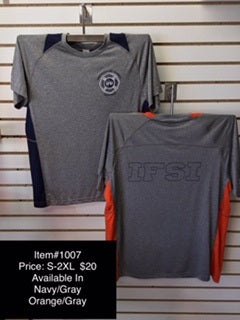 IFSI Two Color Badge Logo - Grey Performance T-Shirt